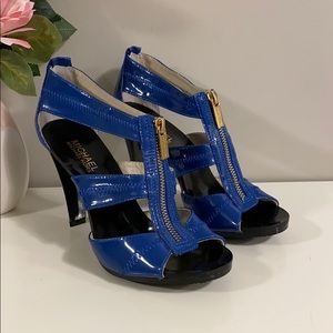 Michael Kors Strappy Blue Heels